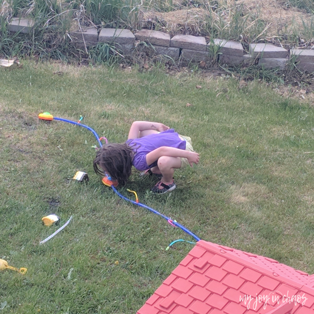 drinking out of the hose