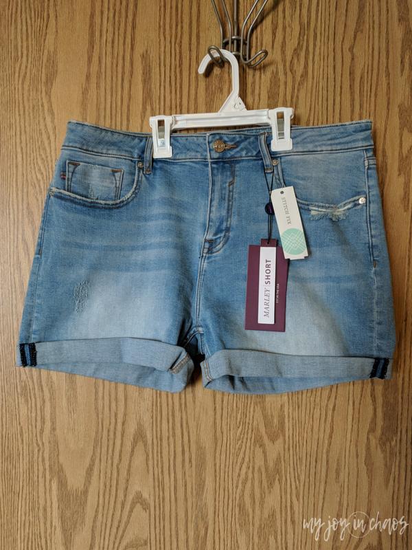 Vigoss Pixie Distressed Cuffed Frayed Hem Shorts