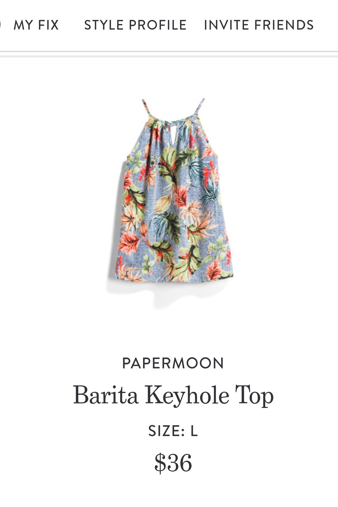 Papermoon Barita Keyhole Top