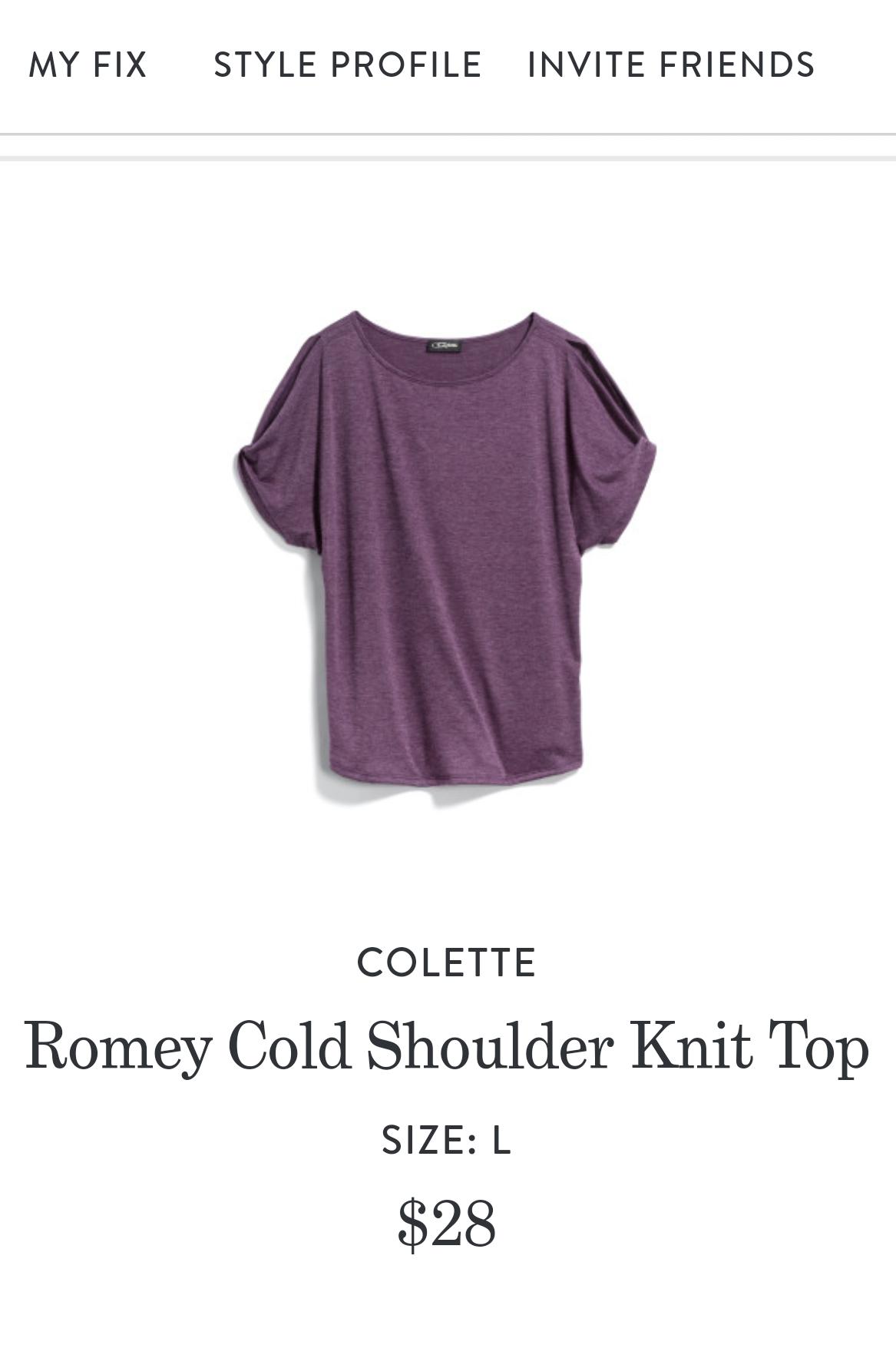 Colette Romey Cold Shoulder Knit Top
