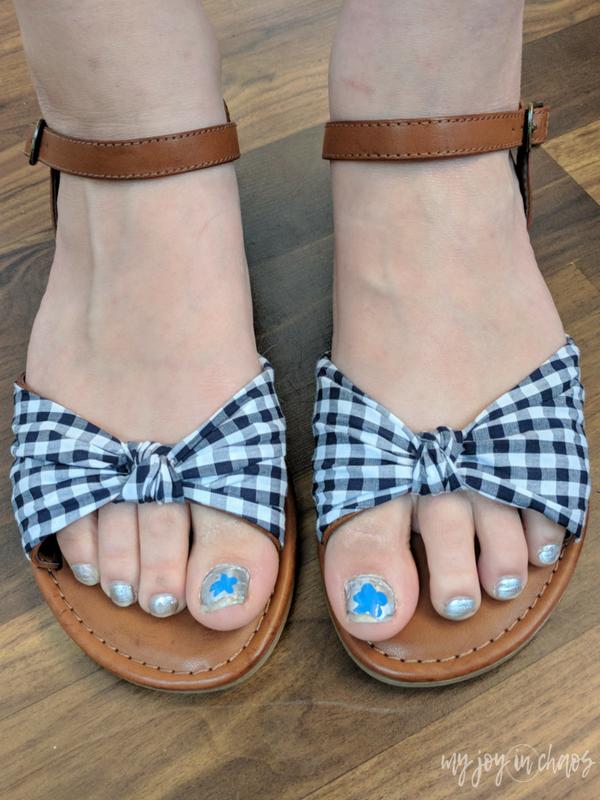 Mia Neala Gingham Sandals