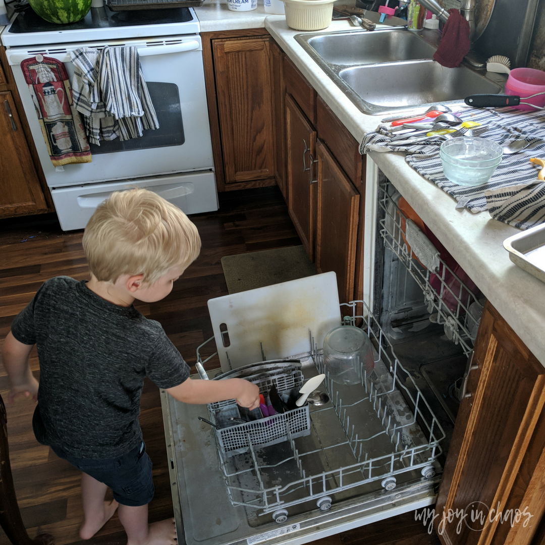 chores for three year olds