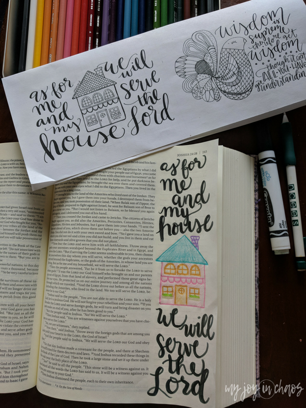 Tips for using coloring sheets in your Bible journaling to create great looking pages.