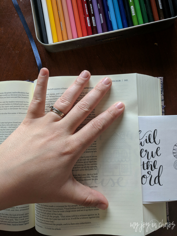 Tips for using coloring sheets in your Bible journaling to create great looking pages