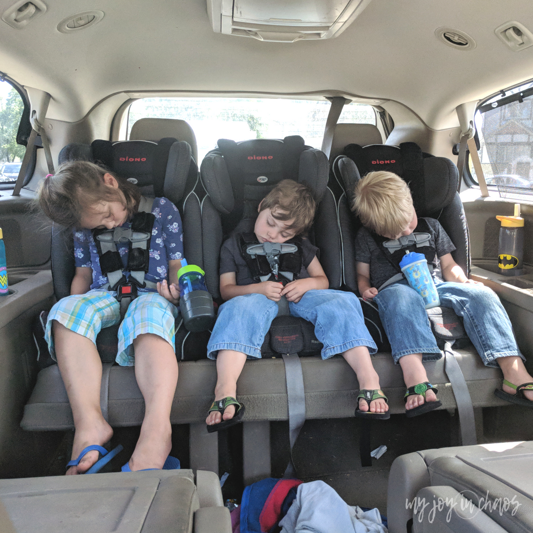 fit three car seats across in minivan