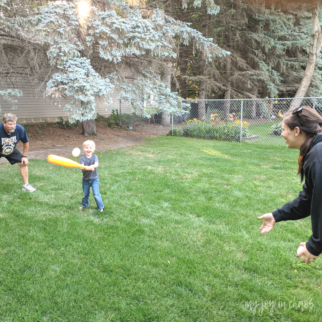 family baseball game