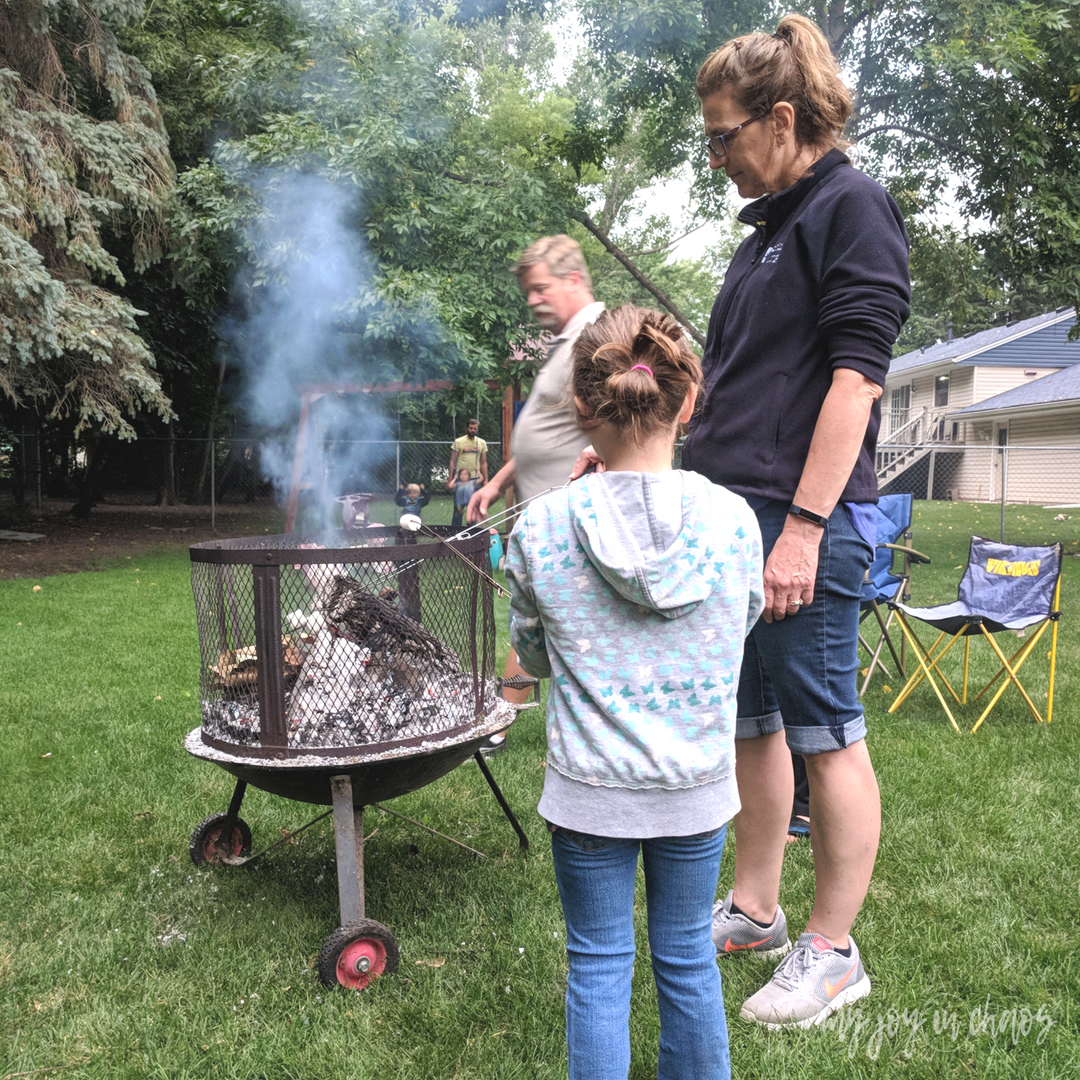 smores at the campfire