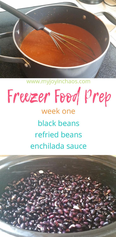 Freezer cooking black beans, refried beans, enchilada sauce recipes
