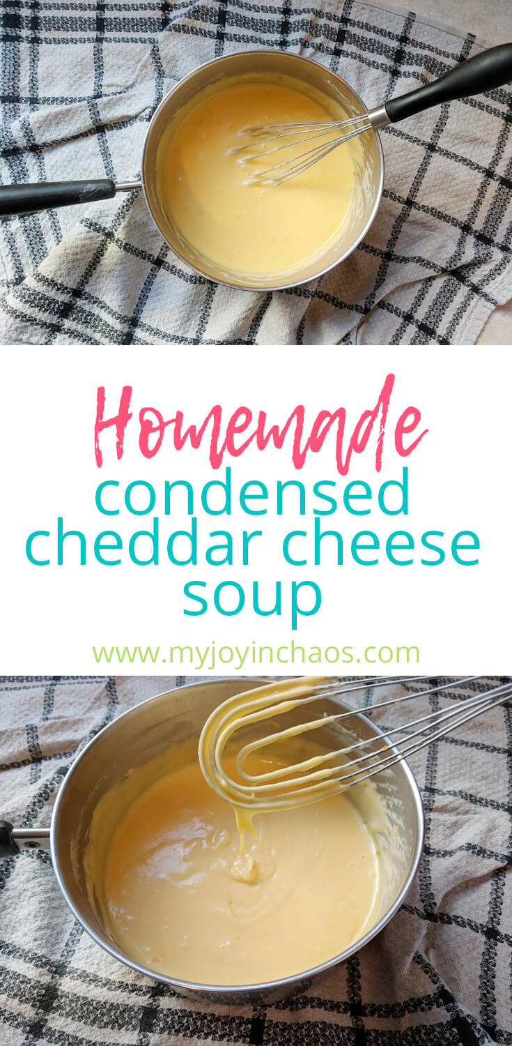 Never use a can of condensed cheese soup again! This easy homemade cheddar soup is the perfect replacement for canned cheese soup.