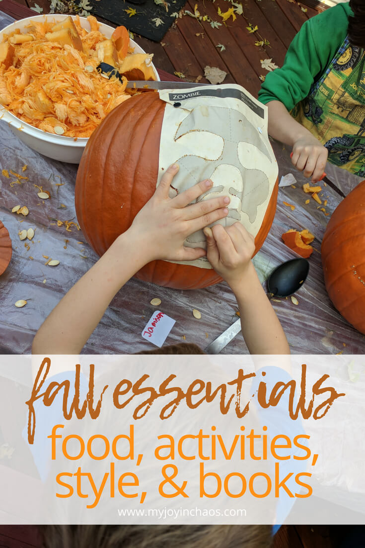 Don't leave these essential fall foods, activities, styles, or books off your list this year! #fallfashion #fallfoods #falleats #fallactvities #familyactivities #autumn #toreadlist #newbooks