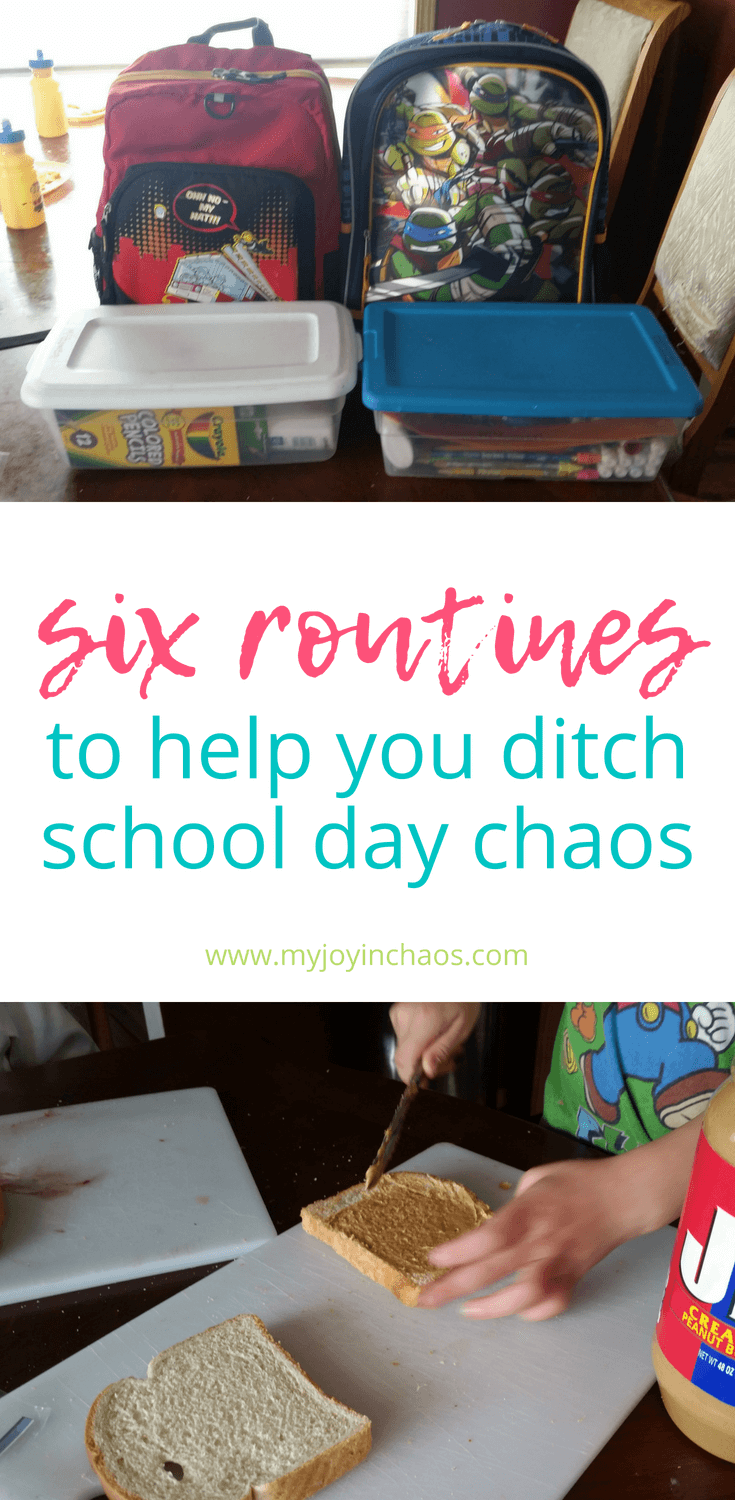 Get your school days on track with these simple routines for before and after school. #backtoschool #morningroutine #afterschool #homework #afterschoolroutine #schoollunch