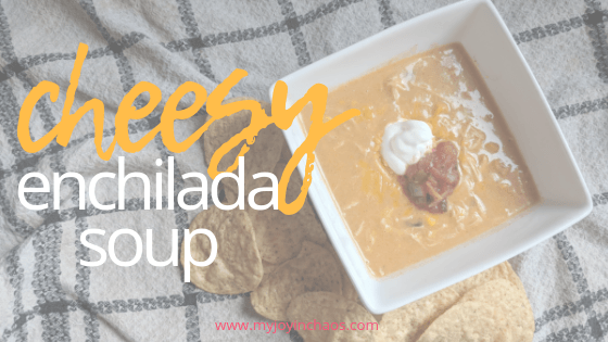 Creamy and cheesy chicken enchilada soup from scratch! #homemade #cheesesoup #chickensoup #fromscratch