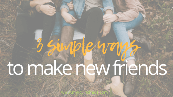 Finding relationships that cross from aquaintence to friendship means we need to do these three things.