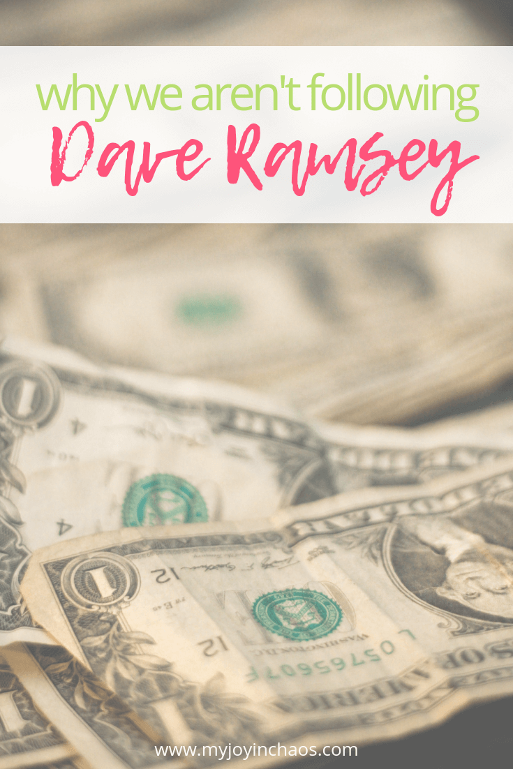 should you follow dave ramsey?