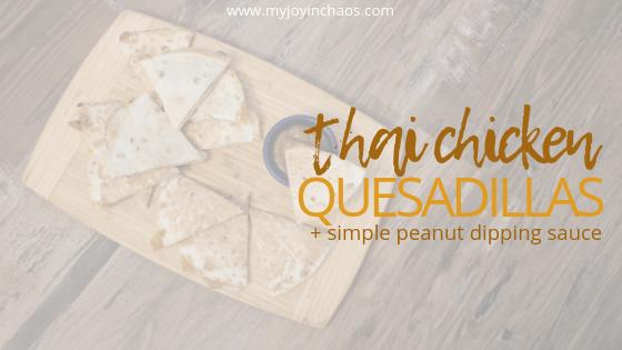 thai chicken quesadillas