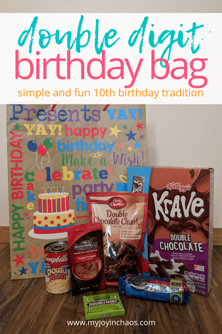 double digit birthday bag ideas