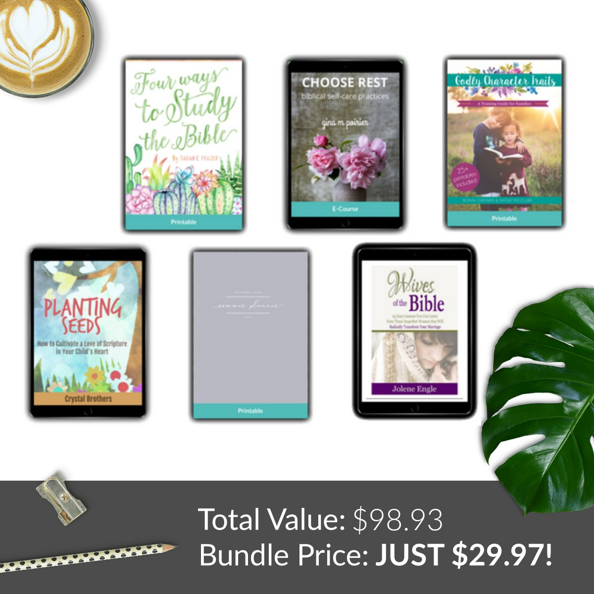 faith items included in the 2018 Ultimate Homemaking Bundle