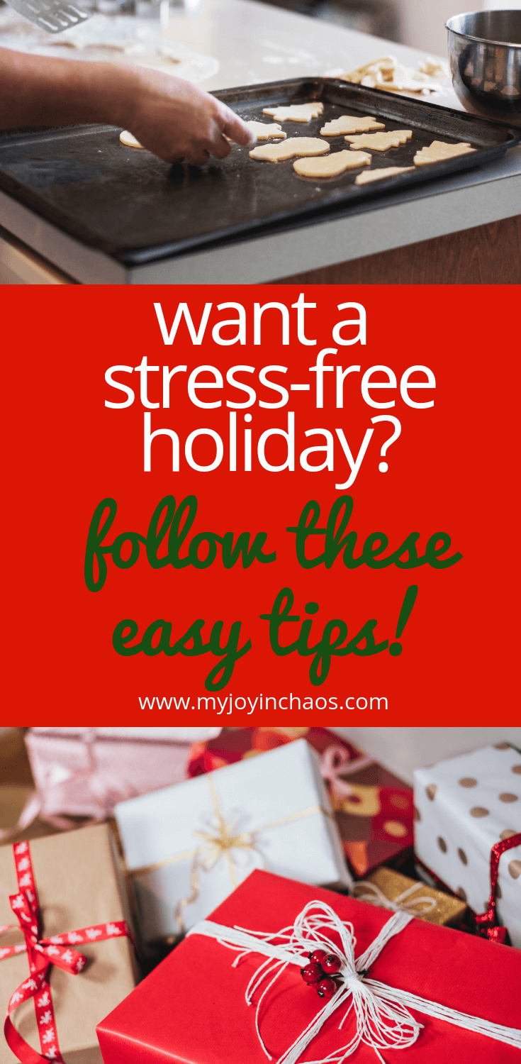 early prep helps reduce holiday stress