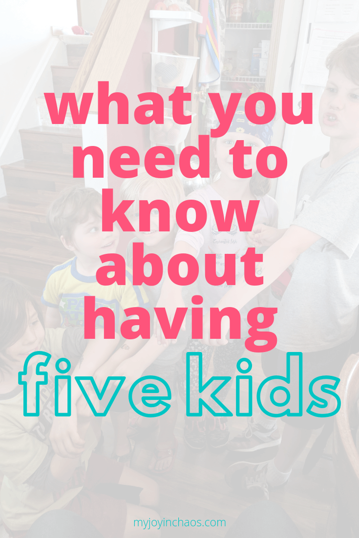 Having a large family is a huge blessing, but it also comes with important lessons. Here's what you need to know if you have five kids