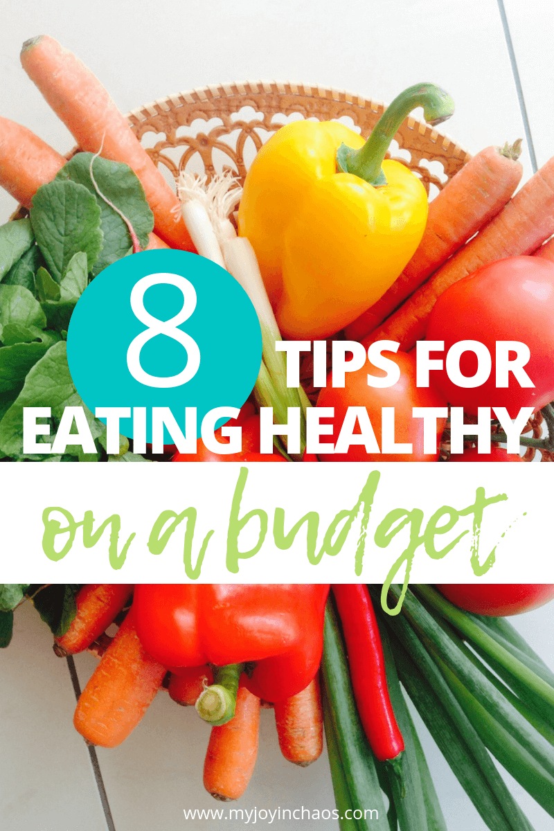 A small grocery budget doesn't mean you can't make healthy food choices! These eight tips will help you fit healthy foods into your budget each month!