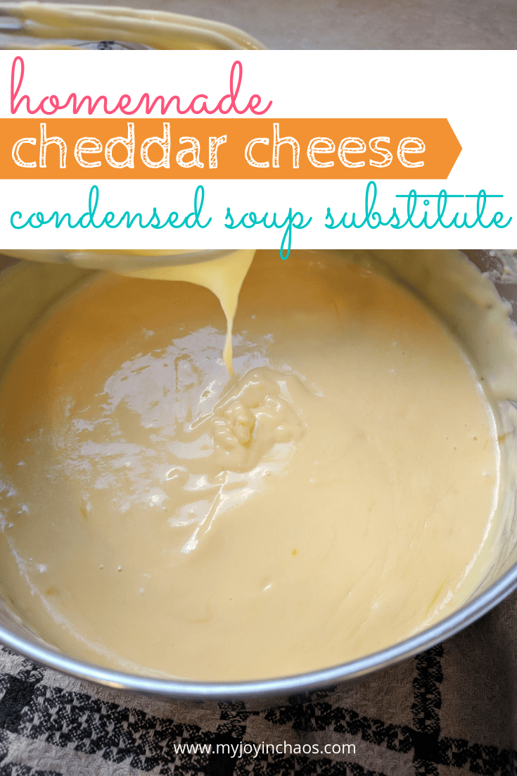 homemade cheddar cheese soup substitute