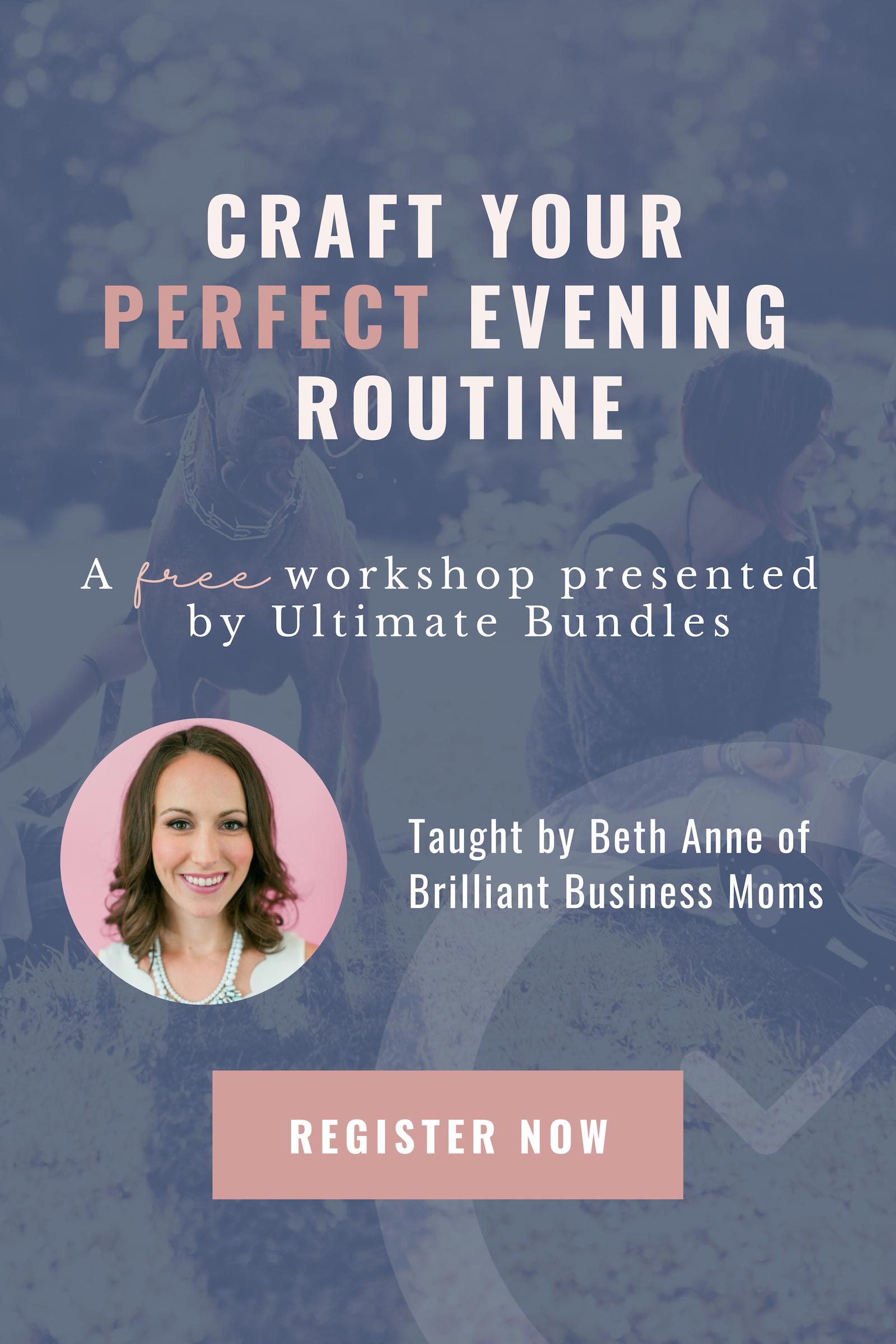 free perfect evening routine webinar
