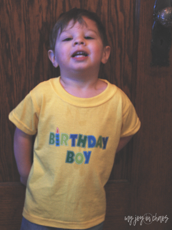 diy birthday shirt