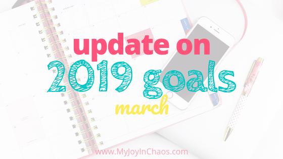 2019 goal progress February update