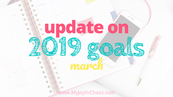 2019 goal progress February update