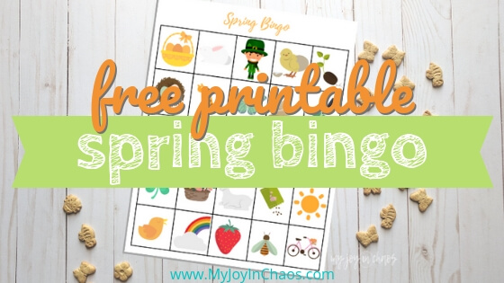 Free printable Spring Bingo game for you and the kids!