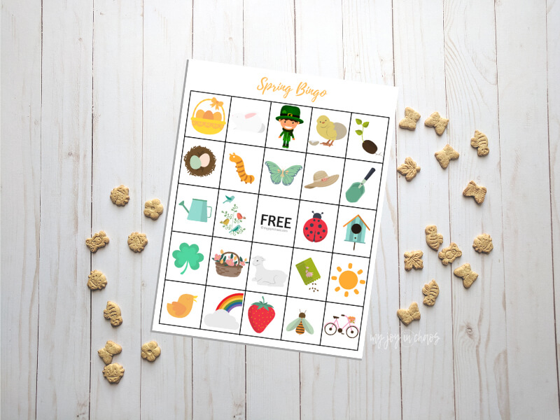 Free printable Spring Bingo game to play at home