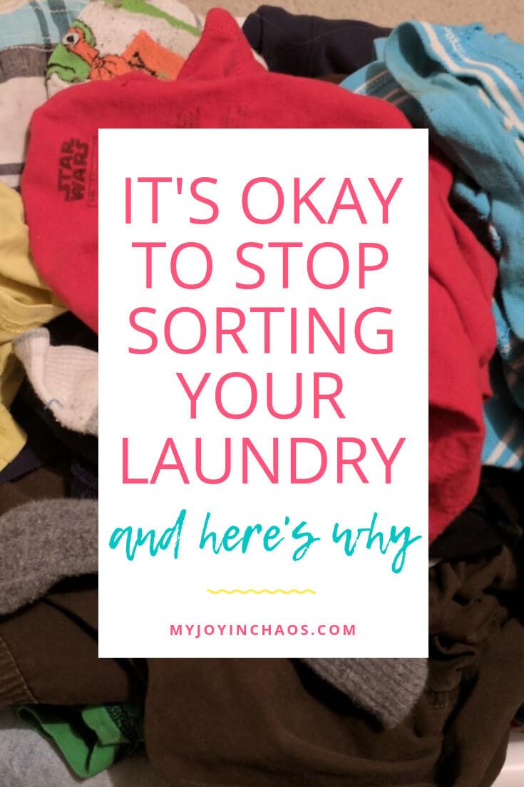 do i need to sort laundry