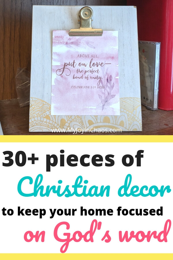 Christian Bible verse clipboard home decor