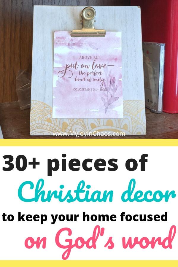 Christian Bible verse clipboard home decor