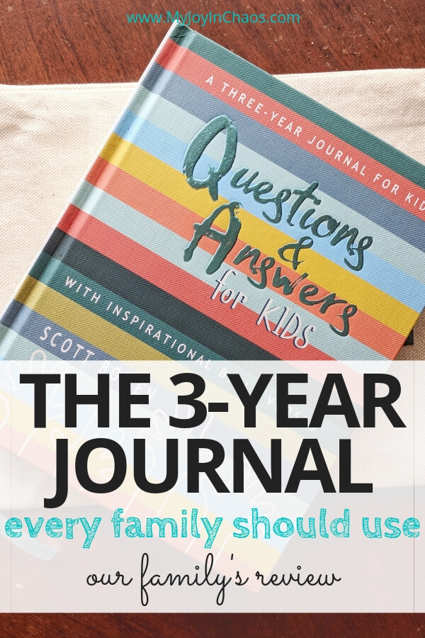 three year question and answer journal for kids