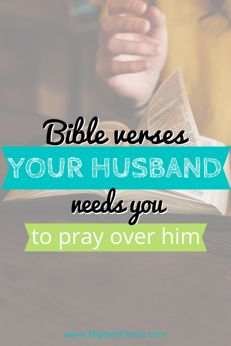 verses to pray over your husband's work