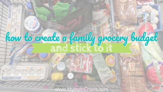 How to make a Grocery Budget