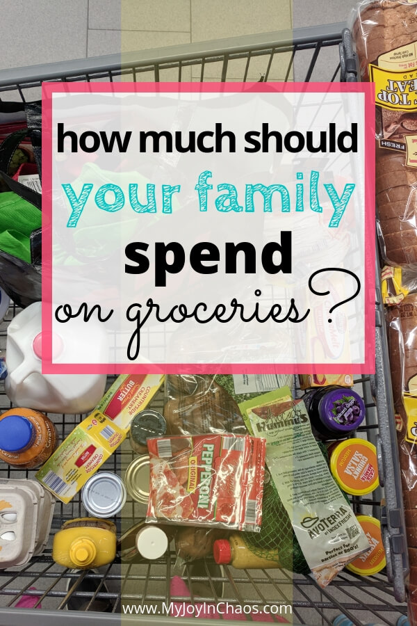 How much should a family spend on groceries?