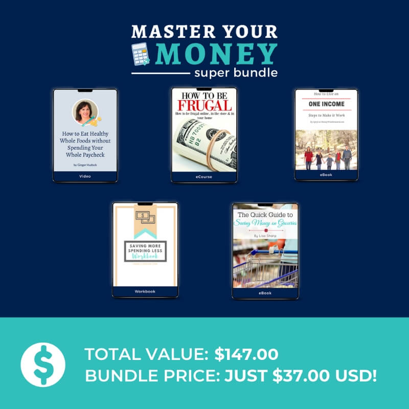 grocery budget resources in Master Your Money Super Bundle
