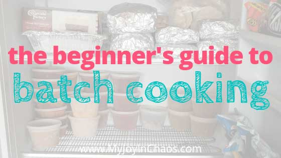 how to start batch cooking