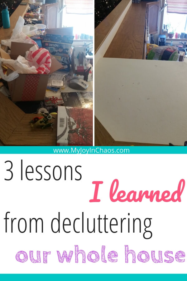 What is clutter and how does it happen? Find the answers and discover the three lessons I learned from decluttering our whole house.