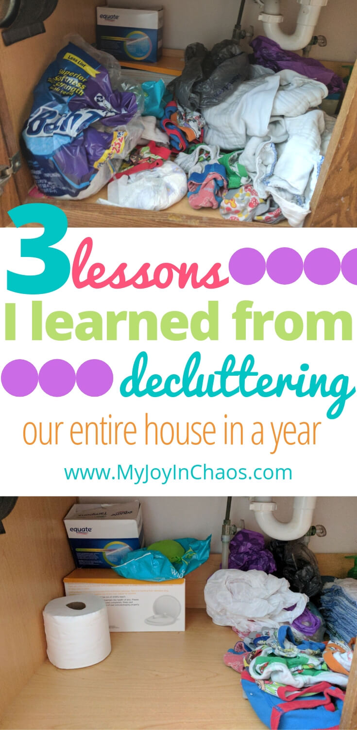 I decluttered our entire home in one year - what did I learn? Discover why clutter happens and how to fight it off before it becomes overwhelming.