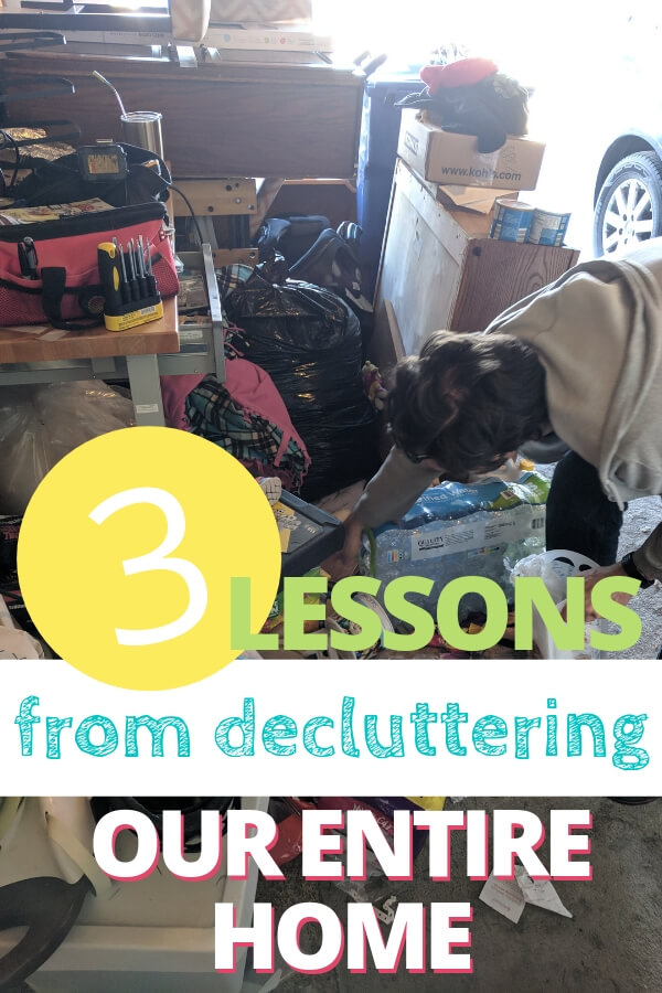 Decluttering our entire house in one year taught me three important lessons. Learn what they are and get inspired to declutter your own home today.
