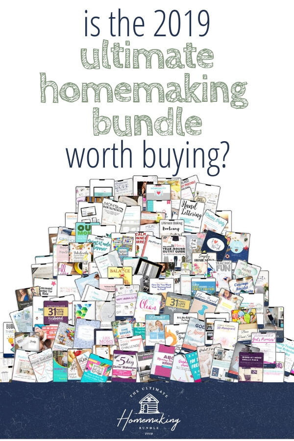 My completely honest review of the 2019 Ultimate HOmemaking Bundle. Is it worth buying?