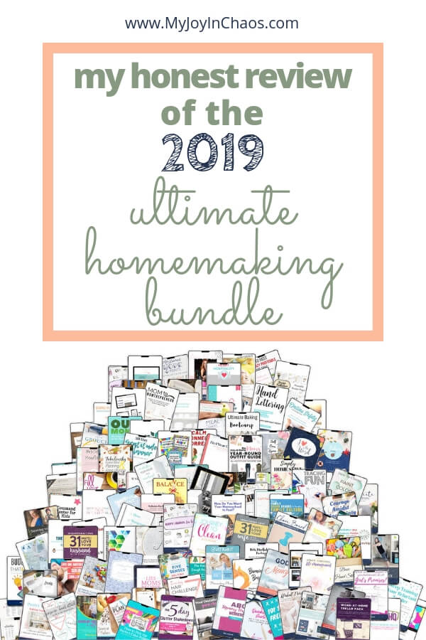 Is the Ultimate Homemaking Bundle a Scam? Is it worth the money? Read my COmpletely Honest Review of the 2019 Ultimate Homemaking Bundle.