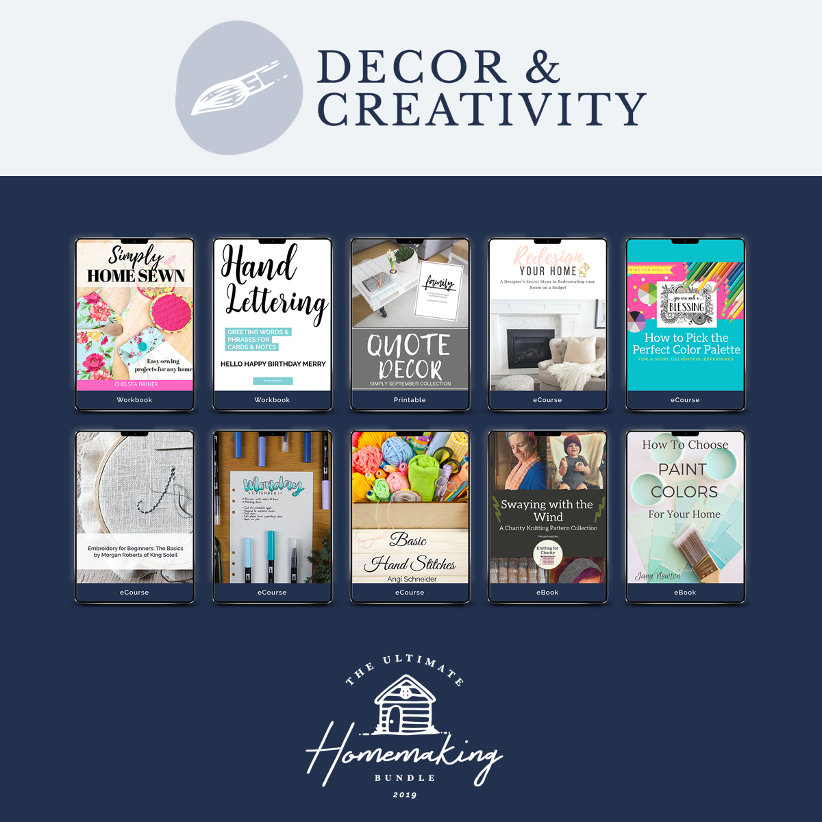 creativity & decor products in ultimate homemaking bundle