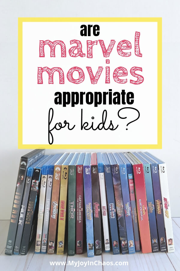 Are marvel movies appropriate for kids? All the movies are rated pg-13 and contain language and situations that aren't suited for a younger audience. What age should kids watch the Marvel movies?