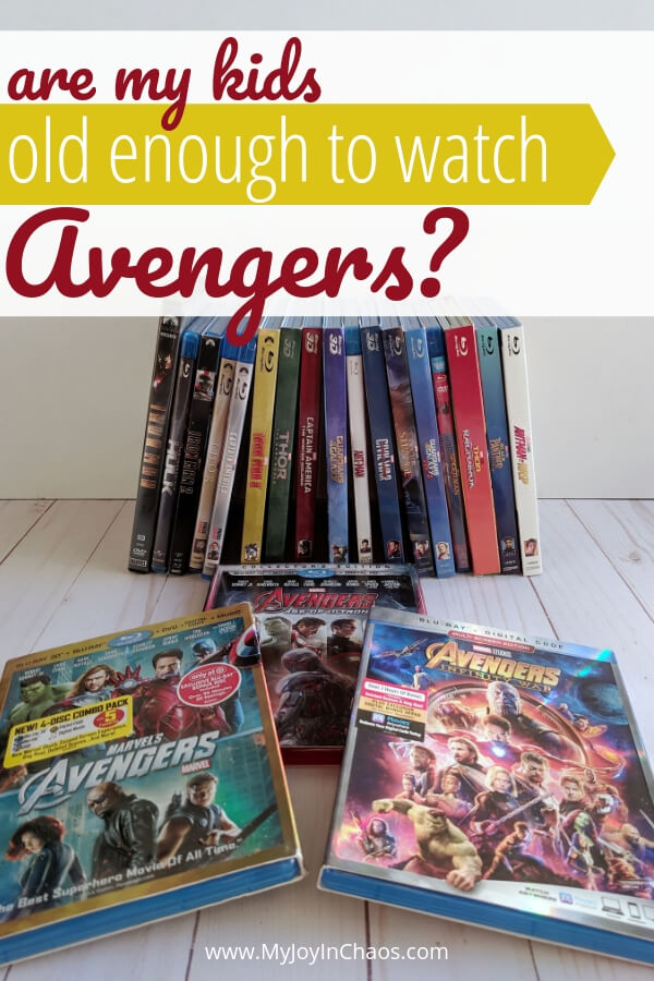 Are my kids old enough to watch Avengers? How do I know if my child is ready to watch avengers? These are the reasons why we are waiting to show our kids the Marvel Movies included in the Marvel Cinematic Universe.