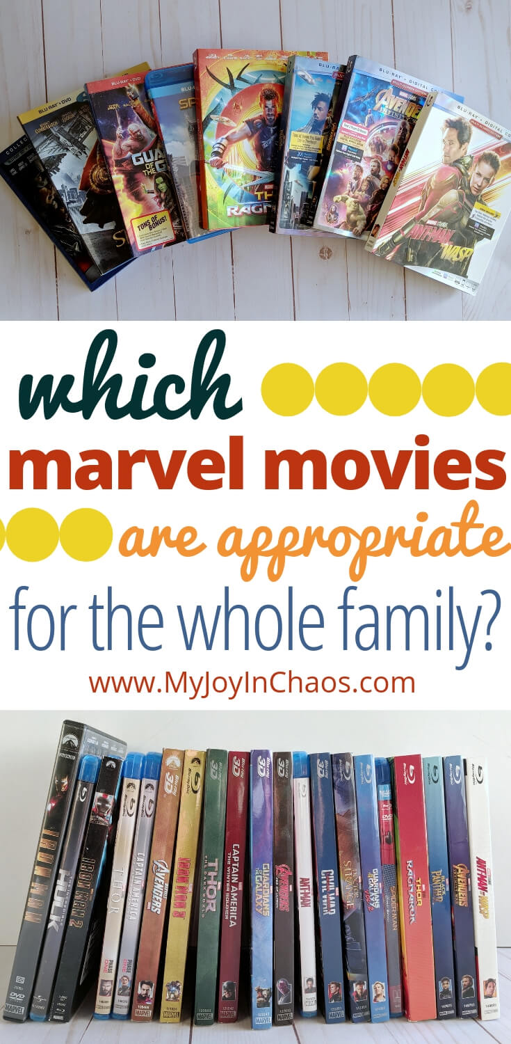 Which Marvel MOvies are Appropriate for the whole family to enjoy? Read why we are waiting to introduce the Marvel movies to our kids as well as which marvel movies we will show to our kids first.