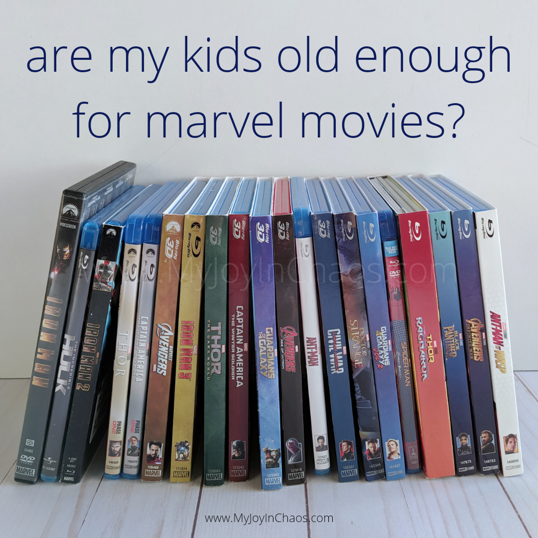 Are my kids old enough to watch Marvel movies?